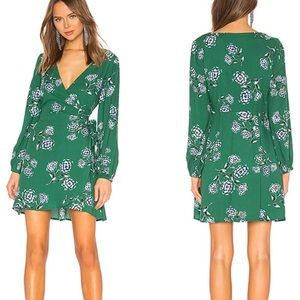 Cupcakes & Cashmere Green Floral Dress
